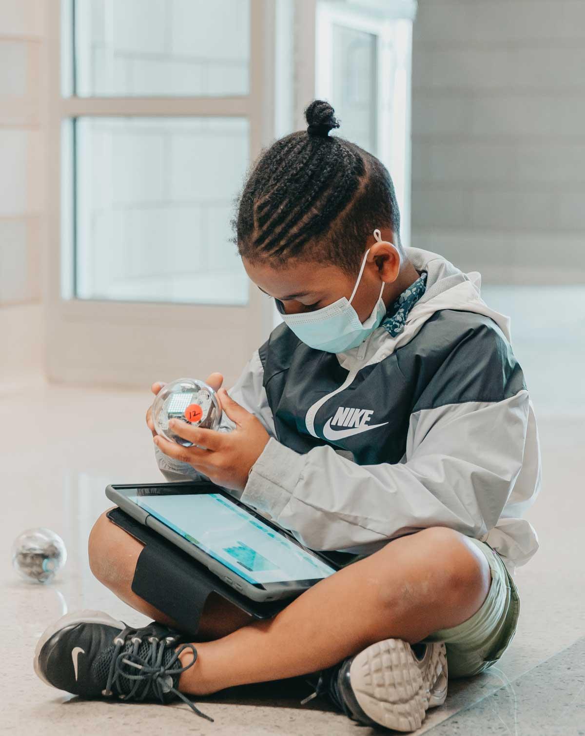 Claremont Academy student coding device